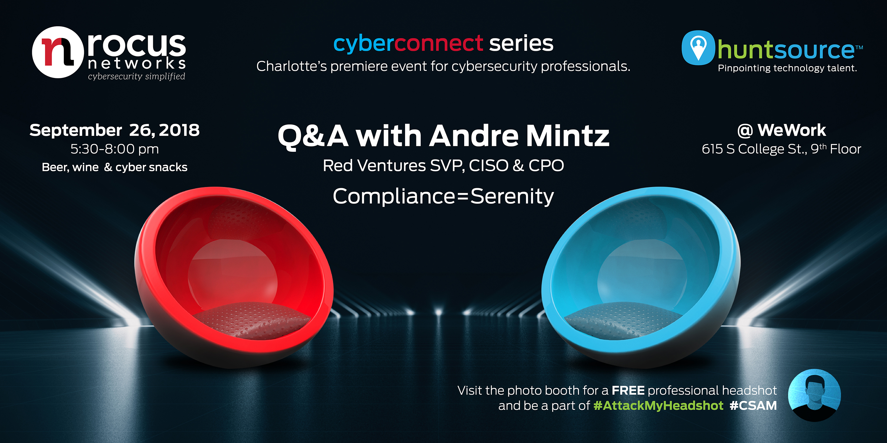 JOIN US Sept 26, 2018: CyberConnect with Andre Mintz